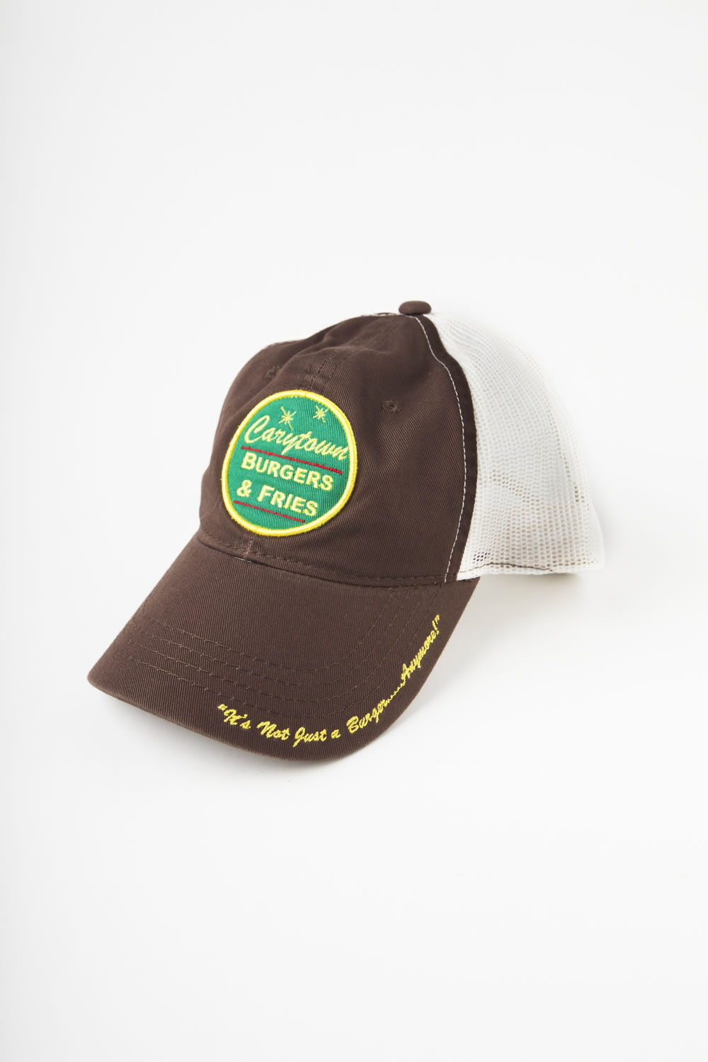 Ball Cap (Brown With White Mesh)