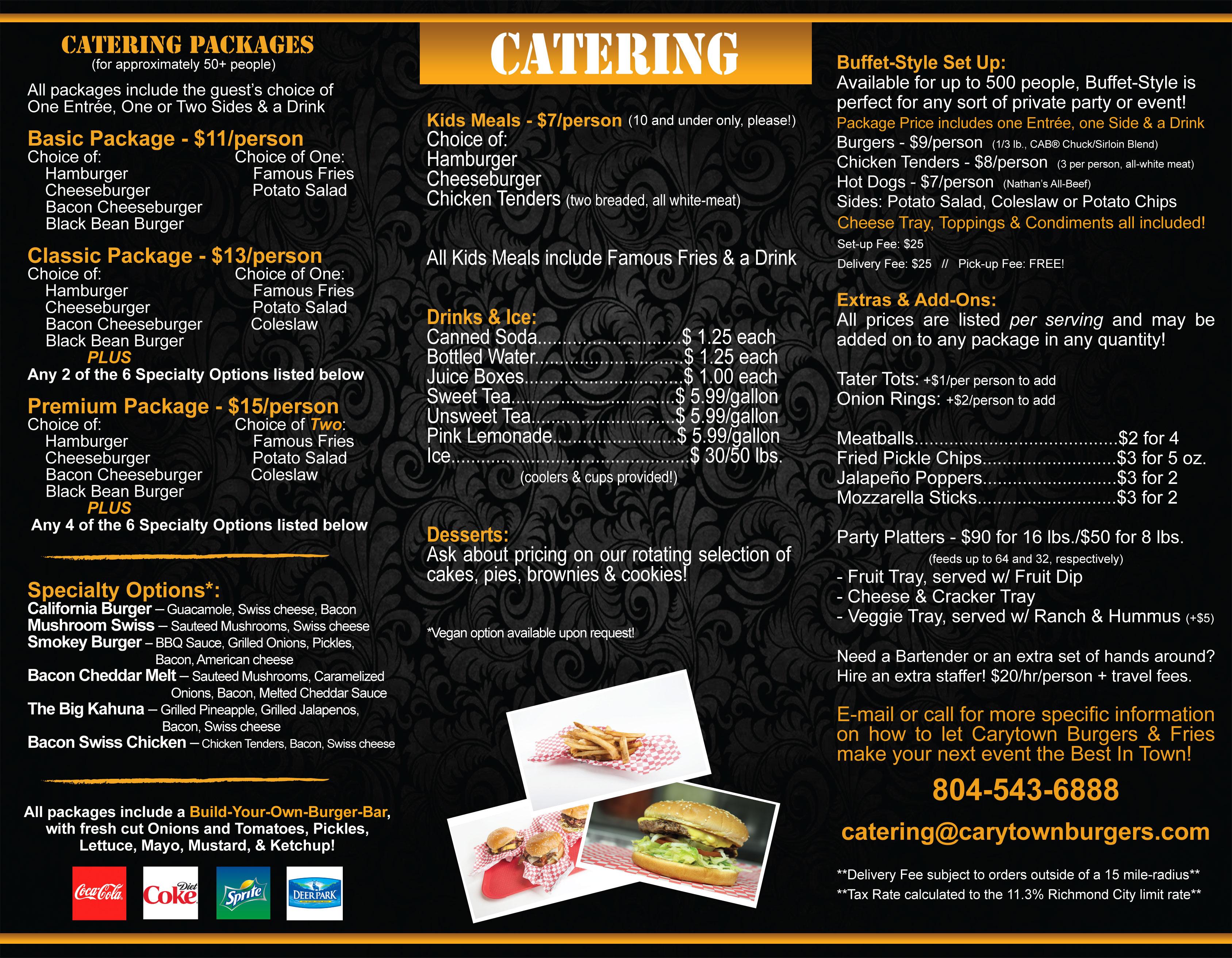 Catering Carytown Burgers Fries Richmond Virginia